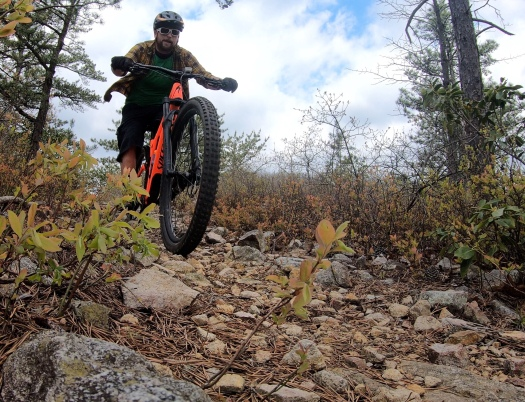 Rippin' that singletrack